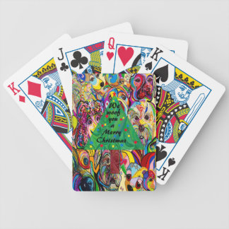 We Woof You a Merry Christmas Bicycle Playing Cards