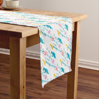We would like to enjoy life short table runner