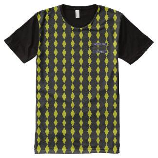Wealthy English Diamond Drop Black Yellow T-Shirt