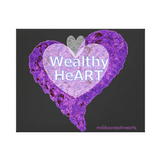 Wealthy HeArt Canvas Print