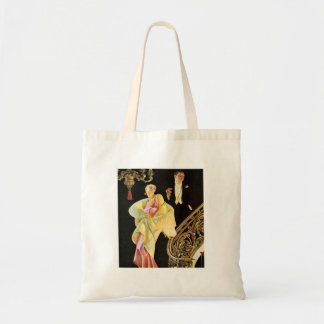 Wealthy Party Goers Tote Bags