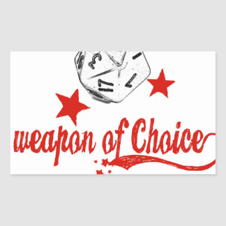 weapon of choice rectangular sticker
