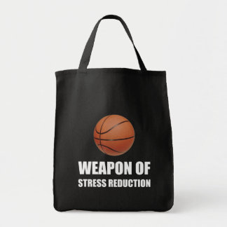 Weapon of Stress Reduction Basketball Tote Bag