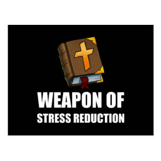 Weapon of Stress Reduction Bible Postcard