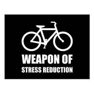 Weapon of Stress Reduction Biking Postcard