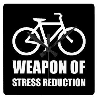 Weapon of Stress Reduction Biking Wall Clocks
