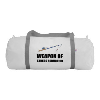 Weapon of Stress Reduction Fishing Gym Duffel Bag