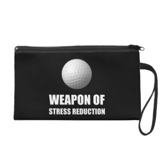 Weapon of Stress Reduction Golf Wristlet Clutch