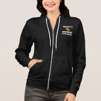 Weapon of Stress Reduction Painting Hoodie