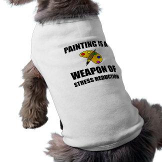 Weapon of Stress Reduction Painting Sleeveless Dog Shirt