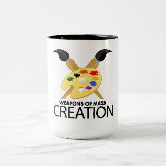 Weapons of mass creation mugs