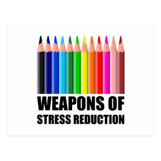 Weapons of Stress Reduction Coloring Postcard
