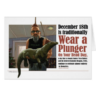 Wear A Plunger On Your Head Day Card