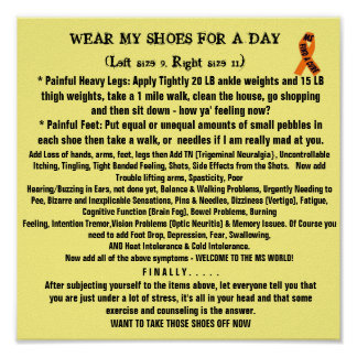 WEAR IN MY SHOES POSTER