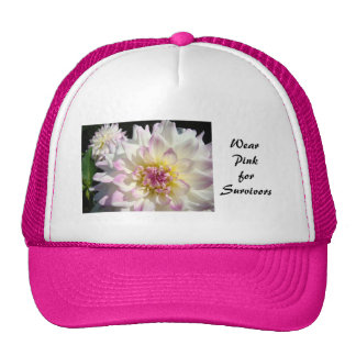 Wear Pink for Survivors Breast Cancer Awareness Trucker Hats