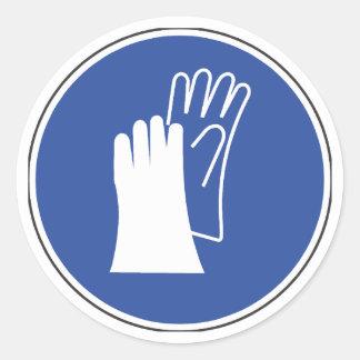 Wear Protective Gloves Safety Sticker