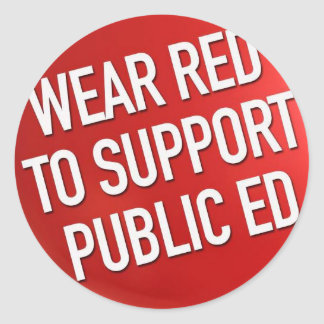 Wear Red for Ed. sticker