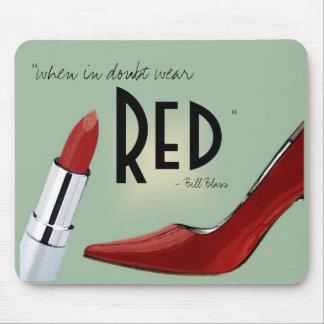 """""""Wear RED"""" mousepad"""