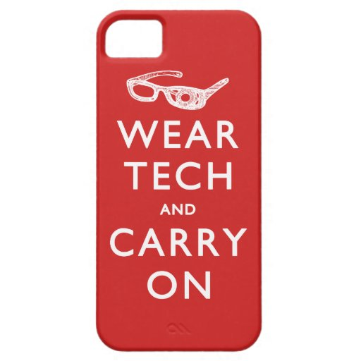 Wear Tech and Carry On Cover For iPhone 5/5S
