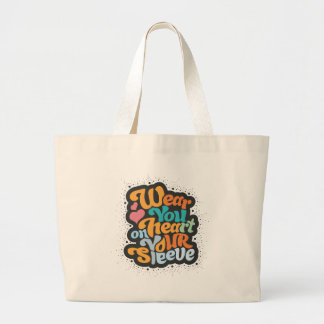 Wear you heart on your sleeve - perfect element jumbo tote bag