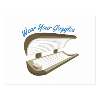 Wear Your Goggles Postcard
