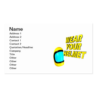 Wear Your Helmet 2 Business Card Templates