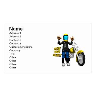 Wear Your Helmet Business Card Template