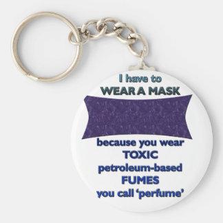 Wearing a mask because key ring