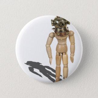 WearingDivingHelmet081212.png 6 Cm Round Badge