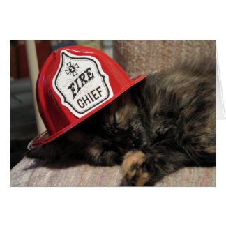 Weary Fire Chief (Sweetie) Card