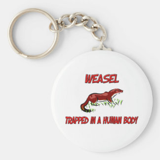 Weasel trapped in a human body keychains