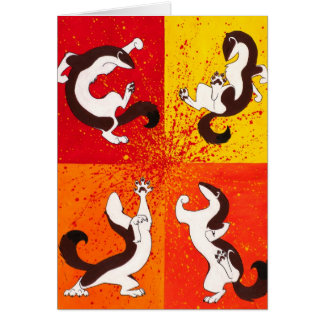"""Weasel War Dance"" Greeting Card"
