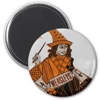 Weasleys' Card Back 6 Cm Round Magnet