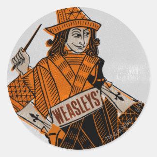 Weasleys' Card Back Round Sticker