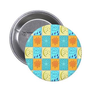 weather 6 cm round badge