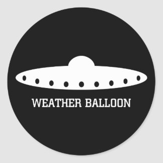 Weather Balloon UFO Classic Round Sticker