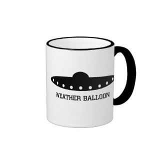 Weather Balloon UFO Coffee Mugs