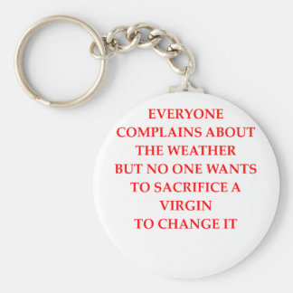 WEATHER BASIC ROUND BUTTON KEY RING