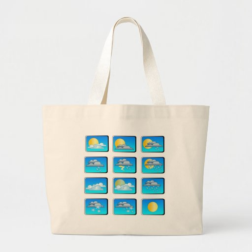 Weather buttons theme bag