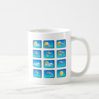 Weather buttons theme coffee mug