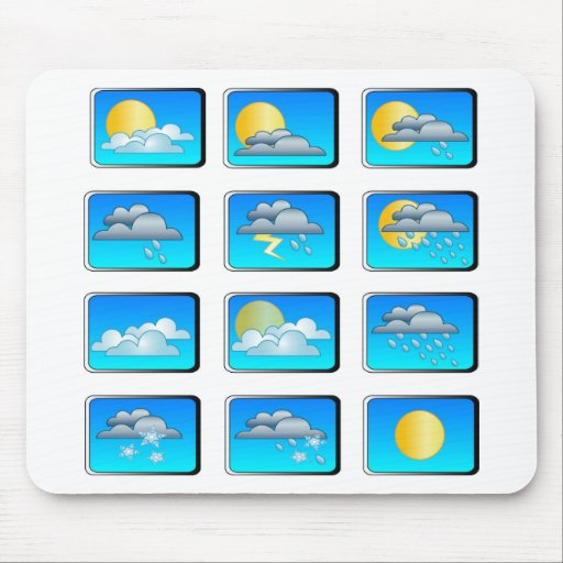 Weather buttons theme mouse pads