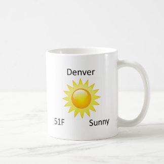 weather Denver Sunny Coffee Mug