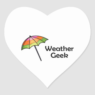 Weather Geek Heart Sticker