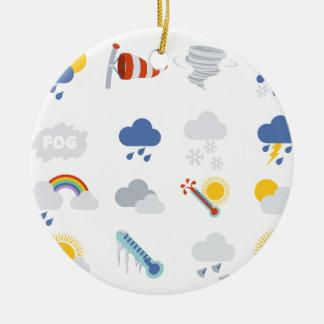 Weather Icons Ceramic Ornament