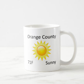 weather Orange County Coffee Mug