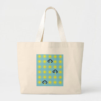 Weather pattern: Retro weather forecast symbols Large Tote Bag