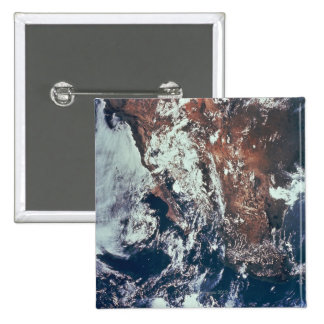 Weather Patterns over Earth 15 Cm Square Badge