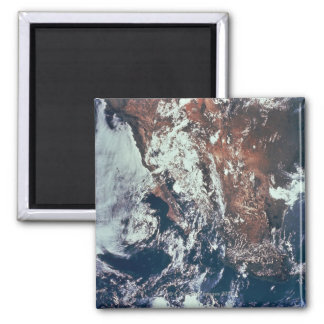 Weather Patterns over Earth Square Magnet