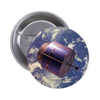 Weather Satellite 6 Cm Round Badge