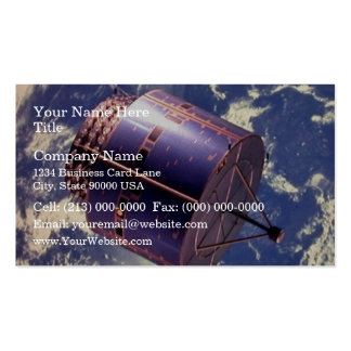 Weather satellite model in space pack of standard business cards
